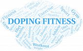 Doping Fitness Word Cloud. Wordcloud Made With Text Only. poster