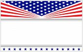 Us Flag Patriotic Poster Banner Frame With Copy Space For Your Text. poster