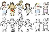men at the gym cartoon collection (raster version)