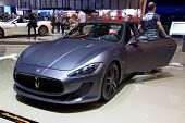 GENEVA - MARCH 8: The Maserati GT on display at the 81st International Motor Show Palexpo-Geneva on March 8; 2011  in Geneva, Switzerland.