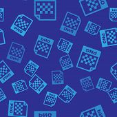 Blue Png File Document Icon. Download Png Button Icon Isolated Seamless Pattern On Blue Background.  poster