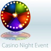 An image of a casino nights event lights pie chart.