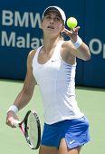 Petra Martic of Croatia Serves