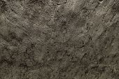 Old Worn Plastered Surface. Dark, Dirty, Shabby, Uneven, Stripped, Scratched, Beaten Background. poster