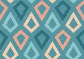 Vintage Vector Seamless Pattern In Retro Style. Retro Colorful Pattern With Grunge Abstract Ornament poster