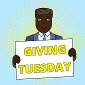 Handwriting Text Giving Tuesday. Concept Meaning International Day Of Charitable Giving Hashtag Acti poster