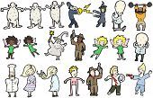 cartoon collection of people (raster version)