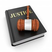 Justice Book And Gavel