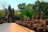 image of asura  - Main entrance to the Angkor Thom  - JPG