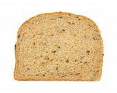 Flaxseed Bread Slice Overhead View