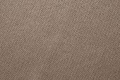 Brown Fabric Texture Of Sackcloth. Clothing Background. Cloth Backdrop. Pattern Of Sacking, Bagging. poster