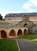Past Petersberg Citadel In Erfurt