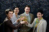 image of party people  - Young businesspeople on New Year Eve Party.