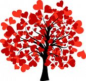 Valentines tree background
