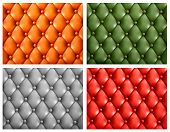 Set of colorful leather backgrounds. Raster version of vector.