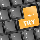 Try Keys Showing Online Business