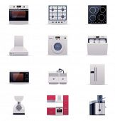 Vector domestic appliances set. Part 1
