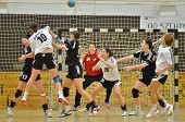 SIOFOK, HUNGARY - JANUARY 5: Unidentified players in action at a Hungarian National Championship han