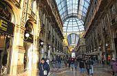 Centro de Shopping Galleria Vittorio Emanuele em Milão, Itália