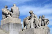 Sculptures Of Old People And Males In Vigeland Park , Oslo
