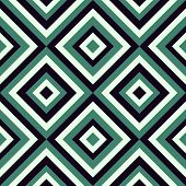 stock photo of symmetrical  - Geometrical pattern in retro colors - JPG