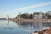 Winter waterfront view of Charlottetown, Prince Edward Island