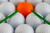 Golf Balls And Wooden Tees