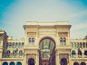 Retro Look Galleria Vittorio Emanuele Ii, Milan