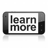 Education concept: Learn More on smartphone