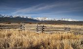 Ranch Range Fence Sun Valley Idaho Sawtooth Mountain Range
