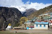 Mountains Around Capital Of Sherpas - Namche Bazar, Nepal, Himalayas, Asia