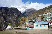 Mountains Around Capital Of Sherpas - Namche Bazar, Nepal, Himalayas, Asia