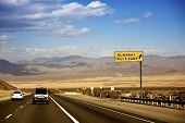 stock photo of runaway  - Nevada Highway USA - JPG