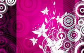 stock photo of pinky  - Floral Pinky Abstract Illustration with Flowers and Circles - JPG