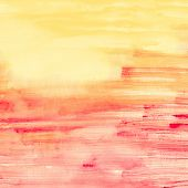 Pink And Orange Watercolor Stripes