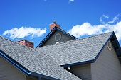 stock photo of cloudy  - House Roof  - JPG