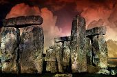 stock photo of stonehenge  - Mysterious Stonehenge - JPG