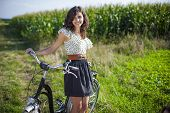 Pretty Girl With Bike