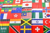image of collate  - Diversity concept with world flags in London - JPG