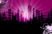 stock photo of pinky  - City Skyline Background - JPG
