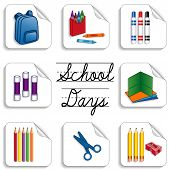 School Days Stickers
