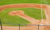 foto of little-league  - A little league baseball field shot from above - JPG
