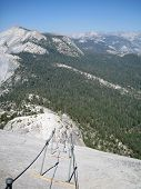 Coming Down The Half Dome Cables