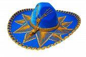Bonito Sombrero azul Mexicano aislado