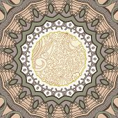 Ornamental lace pattern. Circle.