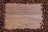 Rahmen Aus Kaffebohnen Und Werbefl�che