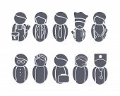 Big Set of Profession Web Icons. Occupations Collection