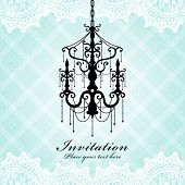 Vintage Luxury Chandelier Background