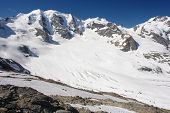 foto of engadine  - View of the Swiss Alps - JPG