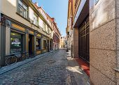 Riga, Latvia-september 05, 2013: Riharda Vagnera Street, Heart Of Old Riga. This Area Is Famous For